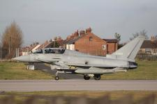 Eurofighter Typhoon # ZJ699 @ Warton 10/02/2014.